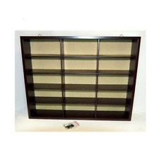 Atlas Wooden Display Case for 15 Model Cars 41.5x8x32 1:43 Scale