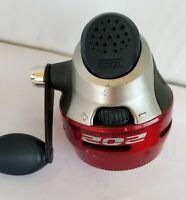 Zebco 202 Spincast w/ 10lb Test Mono Red Silver Black Reel