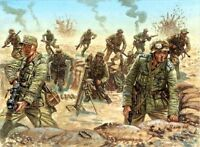 Italeri 1/72nd Scale WWII DAK German Afrika Korp Soldiers Set 6099 NEW In Box!