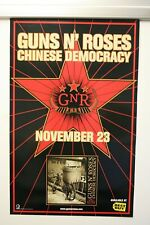 GUNS N' ROSES CHINESE DEMOCRACY DOUBLE SIDED POSTER