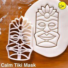 Calm Tiki Mask cookie cutter   Maori Luau Hawaiian resort Polynesian mythology