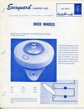 """Boat Re: Vintage """"EVERGUARD"""" Sales Brochure: """"DOCK WHEELS, FENDERS, BUMPERS"""" +"""