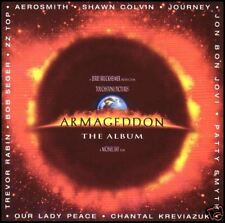 ARMAGEDDON THE ALBUM ~ SOUNDTRACK CD ~ AEROSMITH~JOURNEY~BOB SEGER~ZZ TOP *NEW*