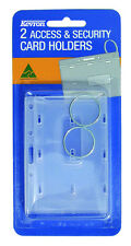 Kevron ID SECURITY ACCESS CARD HOLDER ( Double Pack )