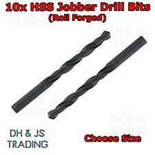 10x HSS Drill Bits - Roll Forged - Jobber Bit - General use Steel Wood Plastics