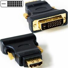 DVI-D male to HDMI female Adapter Converter Cold Contacts Black Adaptor Dvi New