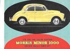 BMC MORRIS MINI MINOR 1000 RANGE CAR BROCHURE NOVEMBER 1962 FOR 1963 MODEL YEAR