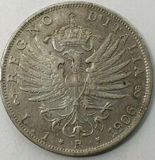 Italy 1 Lira 1906 Vittorio Emanuele III KM#32 Silver 0.835 Coin