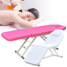 Tri-fold Massage Bed Foldable Beauty Couch Tattoo Salon Therapy Bed Portable UK