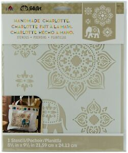 Plaid FolkArt Handmade Charlotte Painting Stencil Laser Cut Tangier Elephant