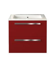 "Paini LaToscana Ambra 24"" Glossy Red Single Bathroom Vanity + Countertop Sink"