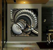 XXL LEINWAND BILD 100x100x5 INDUSTRIAL ART WANDBILD MODERN 3D LOFT ABSTRAKT NEU