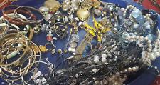 Vintage Estate Junk Drawer Costume Jewelry Lot Over a Dozen Pieces
