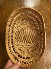 New ListingVintage Hand Made Wicker Basket Woven Basket Bowl
