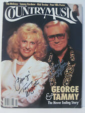 Country Music Magazine signed by George Jones and Tammy Wynette