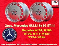 2 Cerchi Mercedes Gulli 8x16 ET11 W 107, 116, 123, 124, 126 Felgen TÜV wheels