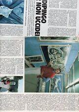 SP61 Clipping-Ritaglio 1987 Emanuele Modica Dipingo per non uccidere