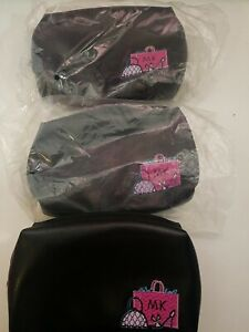 LOT OF 3 . NEW Mary Kay MK Logo Girlfriend Makeup Cosmetic Travel BagsPouches
