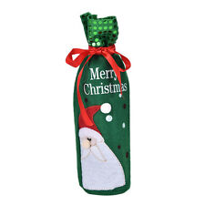 Santa Claus Snowman Wine Bottle Cover Bag Christmas Dinner Xmas Table Decor PJ