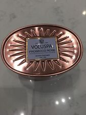 Voluspa Prosecco Rose 2 Wick Decorative Oval Tin Candle 12oz