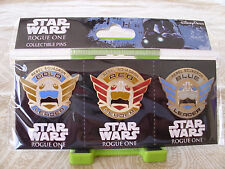 Disney STAR WARS - ROGUE ONE - REBEL SQUADRON BADGES * New in Package 3 Pin Set