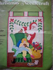 """""""Jeweled Panel"""" Christmas Santa felt bead sequin salvage project kit"""