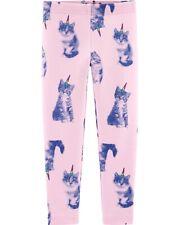 NWT Oshkosh Cat Unicorn Leggings Girls Toddler Pink Blue...
