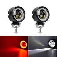 2X LED Auto KFZ 40W Angel Eyes Arbeitsscheinwerfer Offroad Scheinwerfer 12V 24V