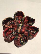 Scottish tartan Fabric Flower Brooch, Cotton fabric (Made in Cornwall)