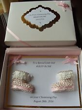 Handmade Personalised Boxed New Baby Girl Card