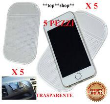 5x TAPPETINO PER AUTO SUPPORTO iPHONE IN SILICONE ATTACCA SMARTPHONE CELLULARE