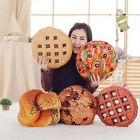 3D Simulation Cookie Pizza Bread Food Soft Nap Pillow Cushion Kids Toy Gift