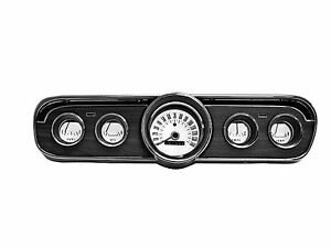 1965 1966 Ford Mustang White Face Gauge Appliques- 5 piece