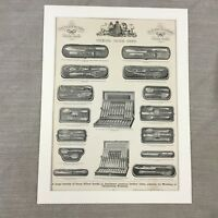 1880 Silver Cutlery Sets Old Pattern Shop Advertisement Original Antique Print