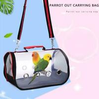 Portable Nest Outdoor Travel Transport Parrot Cage Transparent Parrot Backp U3R3