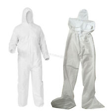 Coveralls Disposable Dust Spray Suit Dust-proof Painter Clothes Non-woven White