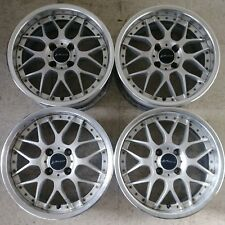 "4) 15"" SSR VIENNA GLUCK 4X100 JDM WHEELS RIMS VIP MESH 3PC RARE AUTHENTIC SPLIT"