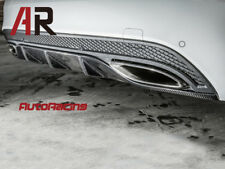 Carbon Fiber Rear Bumper Diffuser Cover For 2015+ W205 C300 C400 AMG Sports Only