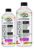 AQO 100% Pure Acetone Superior Quality Nail Polish Remover UV/LED GEL