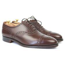 Crockett & Jones 'Plymouth' Brown Leather Oxford Brogues UK 9.5 F