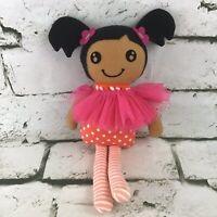 Little Girl Rag Doll Plush Pigtails Striped Leggings Stuffed Companion Toy