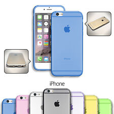 FUNDA EN GEL SILICONA TRANSPARENTE PARA APPLE IPHONE 5 / 6 / 6 PLUS ULTRA FINA