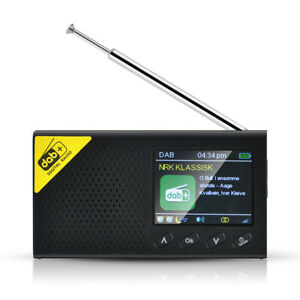 "2.4"" Portable DAB/DAB+ Digital Radio FM Recharge Alarm clock Bluetooth Speaker"