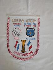 Ajax Amsterdam vs. AJ Auxerre UEFA Cup 1993 Pennant Fanion Wimpel