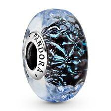 """nuevo"" Pandora Murano Ondulado Ocean 798872 Ale oscuro s925 Original)"