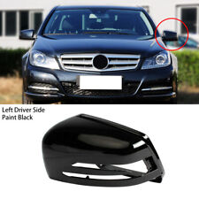 Left Paint Black Wing Mirror Cover Fit For Benz S C E Class W204 W221 W246 W242