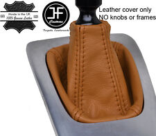 BROWN TOP GRAIN REAL LEATHER GEAR GAITER FITS SAAB 93 9-3 2003-2012
