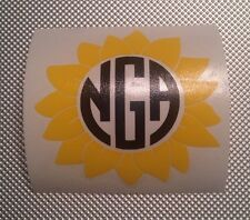 Sunflower Decal with your Monogram For Your Yeti Rambler Tumbler Or Colster