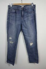 J Crew Factory Boyfriend Distressed Holes 100% Cotton Jeans Size 28 A1013