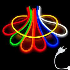 1m-25m LED Neon Strip Streifen Flex Lichterkette Innen & Aussen 230V